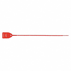 Tug Tight Seal,15 in. L,Red,PK1000