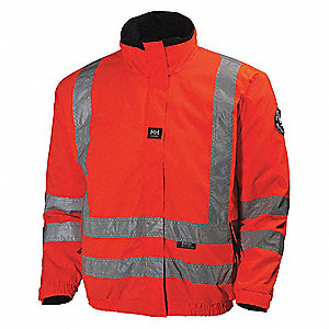 Rain Jacket, High Visibility: No, ANSI Class: Unrated, Polyester, 3XL, Orange