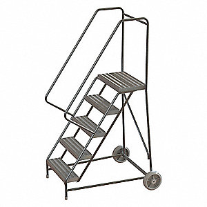 Wheelbarrow Ladder,5 Steps,Cap.350 lb.