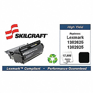Lexmark Toner Cartridge, No. 1382625, Black