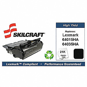 Lexmark Toner Cartridge, No. T640, Black
