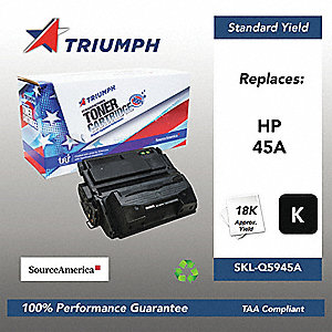 HP Toner Cartridge, No. 45A, Black