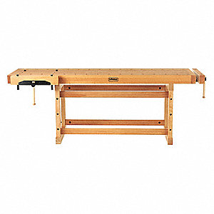 "Workbench,Birch,99-1/4"" W,29"" D"