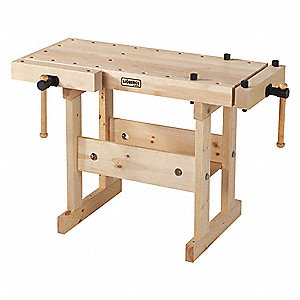 "Workbench, Birch, 19"" Depth, 25"" Height, 39"" Width, 100 lb. Load Capacity"