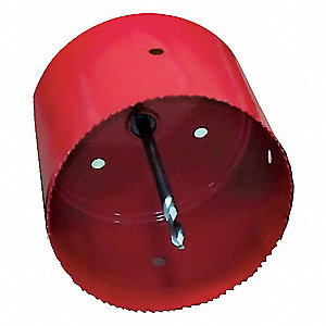 "6""-Dia. Hole Saw for Plastic, 1"" Max. Cutting Depth, 5 Teeth per Inch"