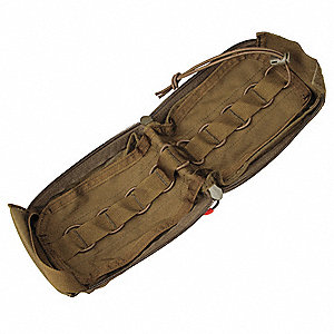 Medical Pouch, Zipper, 500D Nylon, Coyote Tan