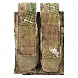 Double Mag Pouch,Belt Mounted,Coyote Tan