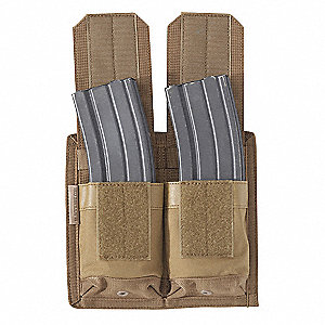 Magazine Pouch, Hook-and-Loop, 500D Nylon, Coyote Tan