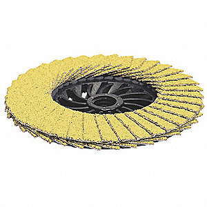 "4-1/2"" Flap Disc, Type 29, 5/8""-11 Mounting Hole, Coarse, 50 Grit Ceramic, 1 EA"