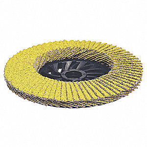 "4-1/2"" Flap Disc, Type 29, 5/8""-11 Mounting Hole, Coarse, 40 Grit Ceramic, 1 EA"