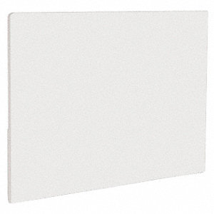 "White Polyethylene Cutting Board, 18"" x 12"" x 1/2"""