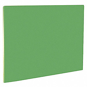 Cutting Board,20 in.L,Green,Polyethylene