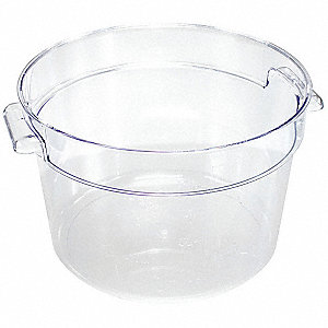 Round Storage Container,Clear,4 qt.