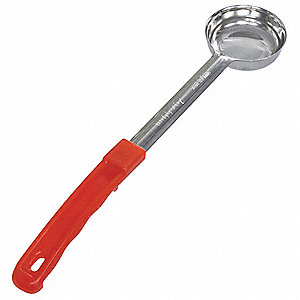"13-1/2""L Stainless Steel 2.00 oz. Portion Controller, Red"