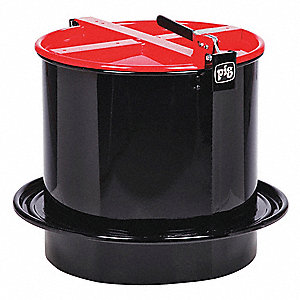 Drum Funnel,Steel,18-1/4 in. H,Red