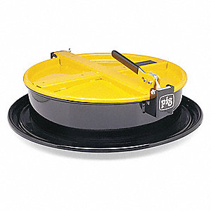 Drum Funnel,Steel,6-3/4 in. H,Yellow