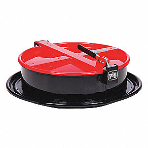 Drum Funnel,Steel,6-3/4 in. H,Red
