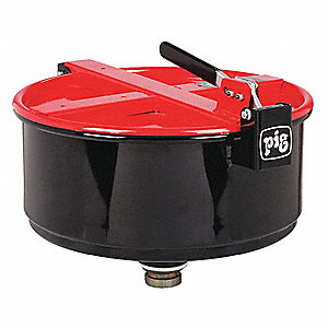 Drum Funnel,Steel,13-9/32 in. H,Red