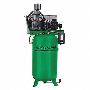 3 Phase - Electrical Vertical Tank Mounted 7.50HP - Air Compressor Stationary Air Compressor, 80 gal