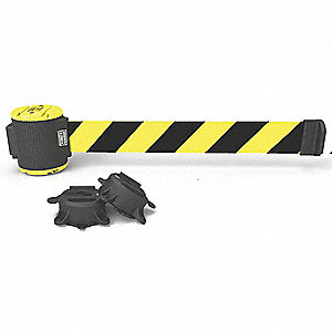Magnetic Belt Barrier,30ftL,Yellow/Black