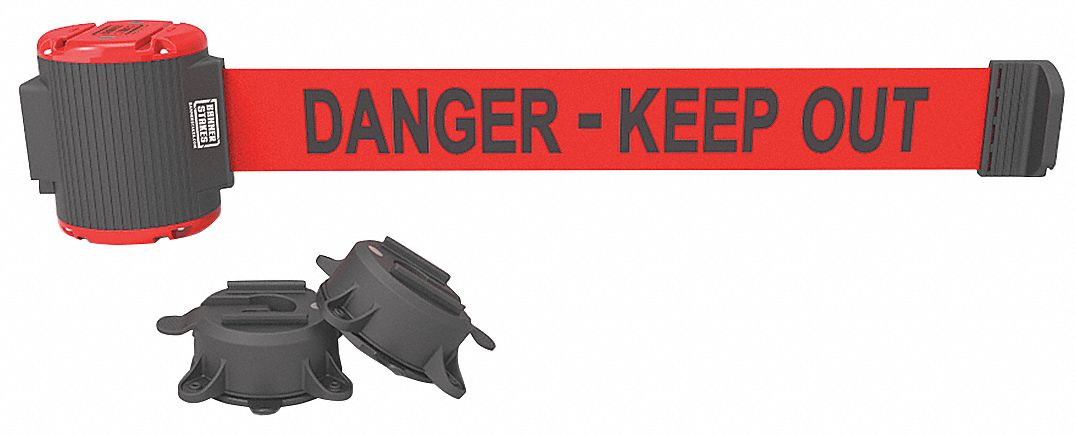 BANNER STAKES MH5009 Magnetic Belt Barrier,Danger Keep Out,Rd