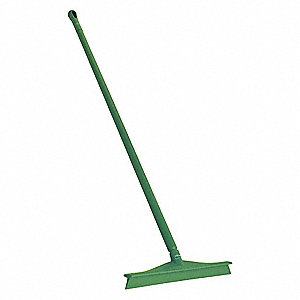 "24""W Straight Rubber Floor Squeegee With Handle, Green"