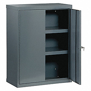 "Industrial Storage Cabinet, Gray, 48"" H X 36"" W X 18"" D, Assembled"