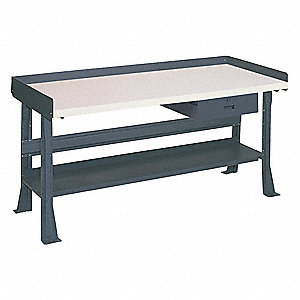 "Workbench,Laminate,60"" W,30"" D"