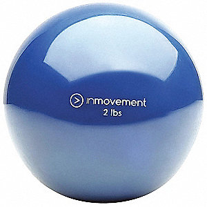 Weighted Ball,Blue,Silicone,2 lb.