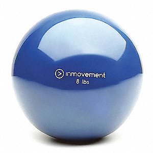 Weighted Ball,Blue,Silicone,8 lb.
