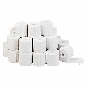 "130 ft. x 2-1/4"" Adding Machine/Calculator Roll, For Use With Adding Machines, Calculators; PK100"