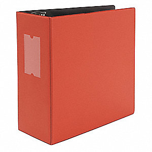 "Red 5"" 3-Ring Binder, 8-1/2"" x 11"" Sheet Size, Suede Finish Vinyl, 950 Sheet Capacity - Binders"