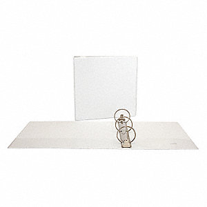 "3-Ring Binder,3"",White"