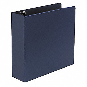 "Royal Blue 3"" 3-Ring Binder, 8-1/2"" x 11"" Sheet Size, Suede Finish Vinyl, 600 Sheet Capacity - Binde"