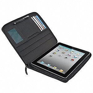 Synthetic Leather iPad Case Fits Apple iPad 2, Apple iPad 3, Apple iPad with Retina, Black