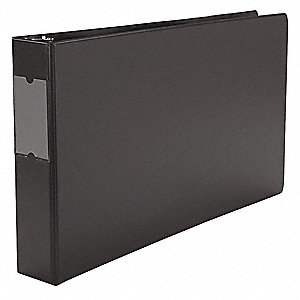 Ring Binder,Black,375 S,17inx11in Ring