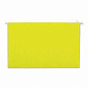 Hanging File Folders, Yellow, PK25