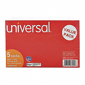 "5"" x 8"" Index Cards, Unruled"