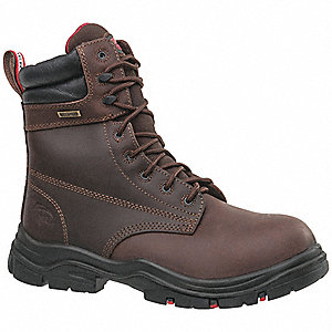"8""H Men's Work Boots, Composite Toe Type, Brown, Size 8-1/2M"