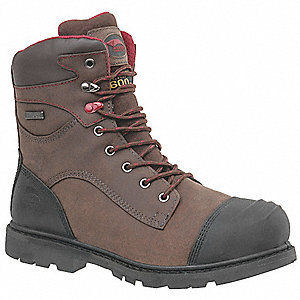 "8""H Men's Work Boots, Composite Toe Type, Brown, Size 10W"