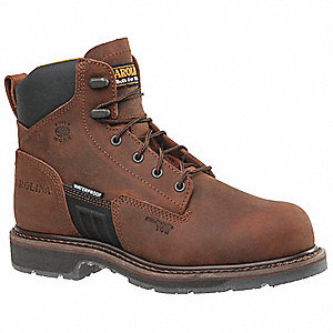 Work Boots,8,D,Lace Up,Brown,6inH,PR