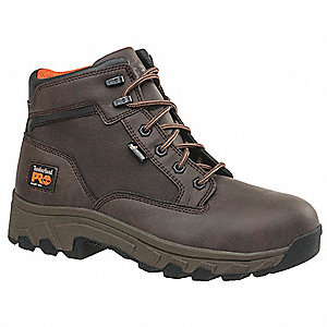 "6""H Men's Work Boots, Alloy Toe Type, Brown, Size 14W"