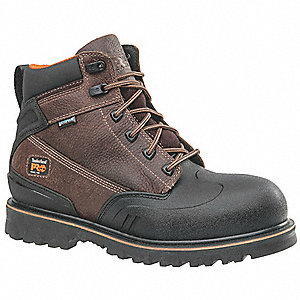 "6""H Men's Work Boots, Steel Toe Type, Brown, Size 7-1/2M"