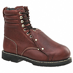 "8""H Men's Work Boots, Steel Toe Type, Brown, Size 7D"
