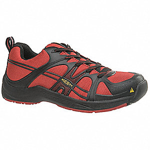 Work Boots,9-1/2,EE,Mens,Black/Red,PR