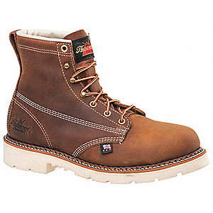 "6""H Men's Work Boots, Steel Toe Type, Light Brown, Size 11-1/2EE"