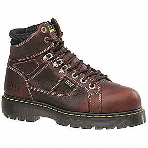"6""H Men's Work Boots, Steel Toe Type, Brown, Size 11M"