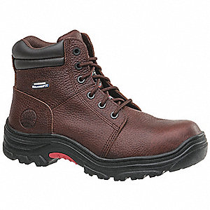 "6""H Men's Work Boots, Composite Toe Type, Dark Brown, Size 7D"