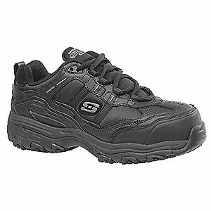 "3""H Women's Athletic Style Work Shoes, Composite Toe Type, Black, Size 5D"