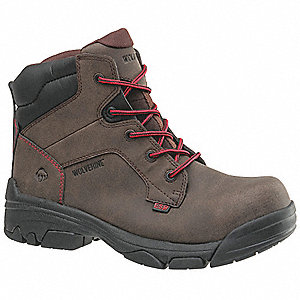 "6""H Men's Work Boots, Composite Toe Type, Dark Brown, Size 10EW"